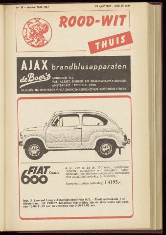 Programmaboekjes (vanaf 1934) 1967-04-23