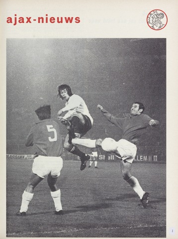 Clubnieuws Ajax (vanaf 1916) 1972-12-01