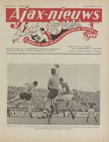 Clubnieuws Ajax (vanaf 1916) 1960-09-01