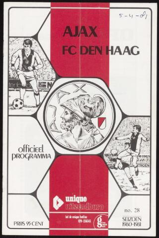Programmaboekjes (vanaf 1934) 1981-04-05