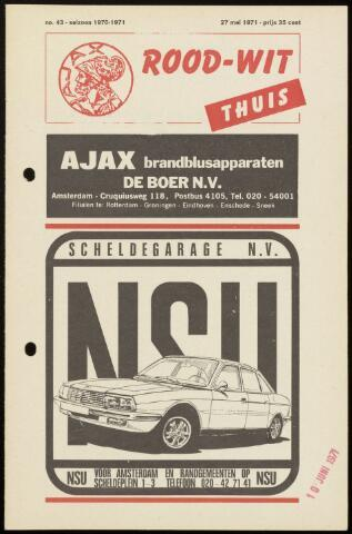 Programmaboekjes (vanaf 1934) 1971-05-27