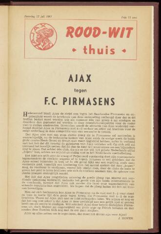 Programmaboekjes (vanaf 1934) 1961-07-22