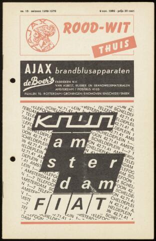 Programmaboekjes (vanaf 1934) 1969-11-09