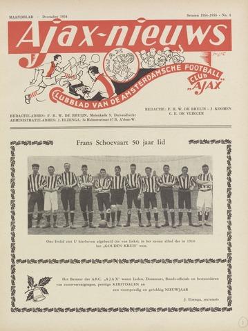 Clubnieuws Ajax (vanaf 1916) 1954-12-01