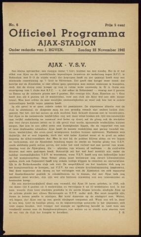 Programmaboekjes (vanaf 1934) 1942-11-22