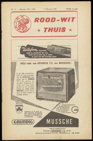 Programmaboekjes (vanaf 1934) 1958-02-02