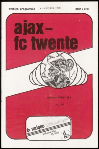 Programmaboekjes (vanaf 1934) 1980-11-30