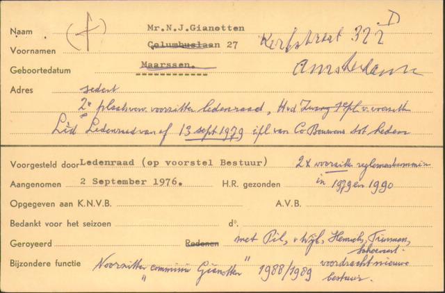 Ledenkaarten (1911-1989) 1976-09-02