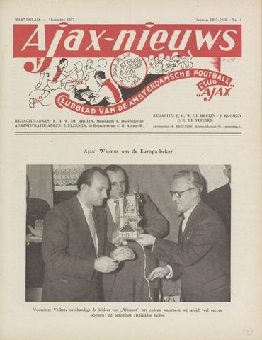 Clubnieuws Ajax (vanaf 1916) 1957-12-01