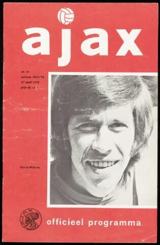 Programmaboekjes (vanaf 1934) 1975-04-27
