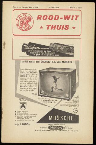 Programmaboekjes (vanaf 1934) 1958-05-26