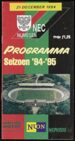 Programmaboekjes (vanaf 1934) 1994-12-21