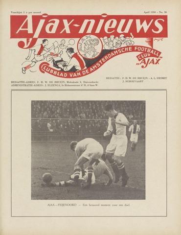 Clubnieuws Ajax (vanaf 1916) 1950-04-01