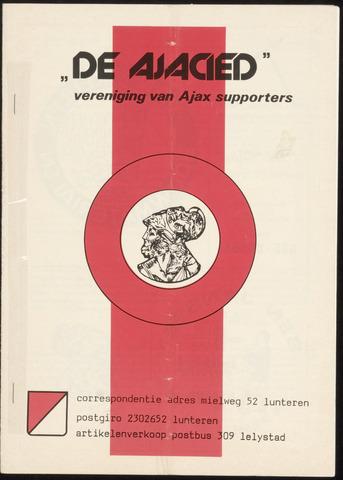 Clubblad De Ajacied (1997-2009) 1978-10-11