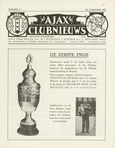 Clubnieuws Ajax (vanaf 1916) 1935-07-01