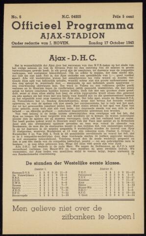 Programmaboekjes (vanaf 1934) 1943-10-17