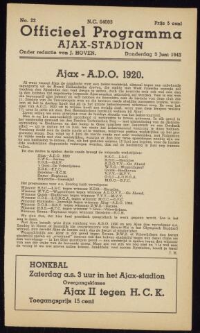 Programmaboekjes (vanaf 1934) 1943-06-03