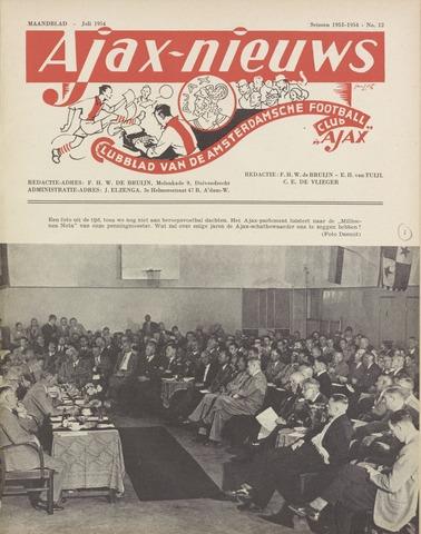 Clubnieuws Ajax (vanaf 1916) 1954-07-01