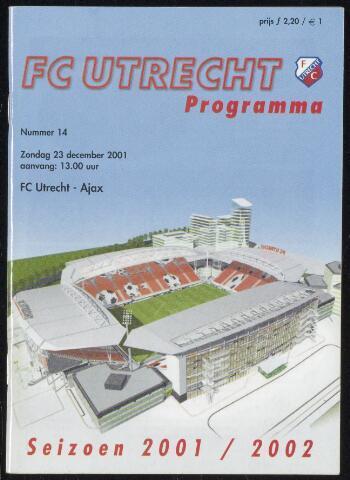 Programmaboekjes (vanaf 1934) 2001-12-23