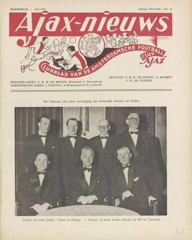 Clubnieuws Ajax (vanaf 1916) 1956-07-01