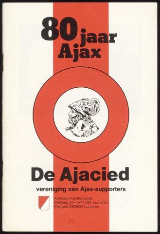 Clubblad De Ajacied (1997-2009) 1980