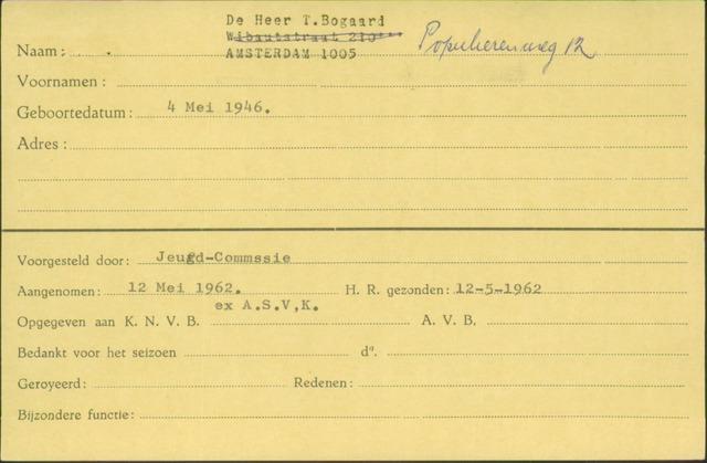 Ledenkaarten (1911-1989) 1962