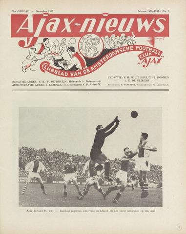 Clubnieuws Ajax (vanaf 1916) 1956-12-01