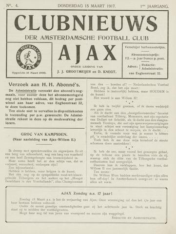 Clubnieuws Ajax (vanaf 1916) 1917-03-15