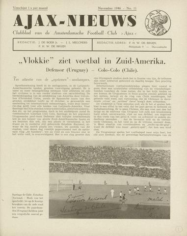 Clubnieuws Ajax (vanaf 1916) 1946-11-01