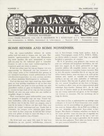 Clubnieuws Ajax (vanaf 1916) 1937-07-01