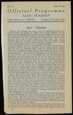 Programmaboekjes (vanaf 1934) 1945-11-25