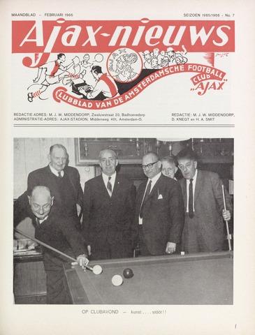 Clubnieuws Ajax (vanaf 1916) 1966-02-01