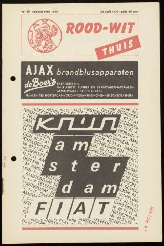 Programmaboekjes (vanaf 1934) 1970-04-30