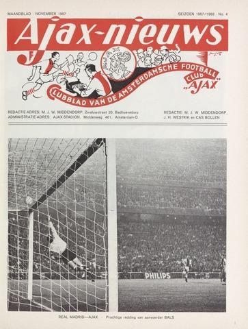Clubnieuws Ajax (vanaf 1916) 1967-11-01