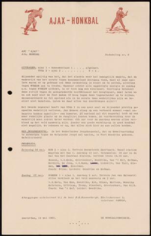 Honkbal nieuws (1963-1972) 1963-05-13
