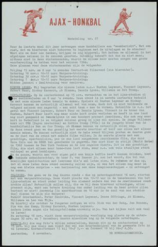 Honkbal nieuws (1963-1972) 1963-11-06