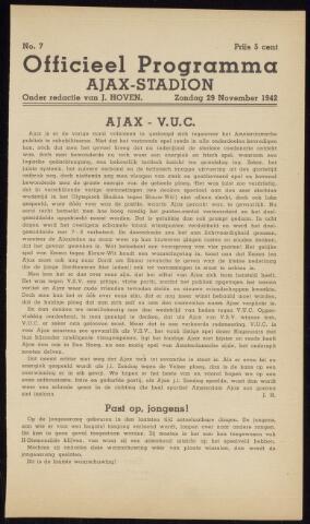 Programmaboekjes (vanaf 1934) 1942-11-29