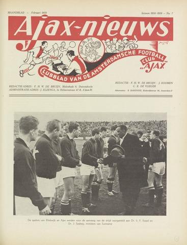 Clubnieuws Ajax (vanaf 1916) 1959-02-01