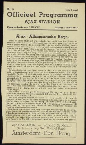 Programmaboekjes (vanaf 1934) 1943-03-07