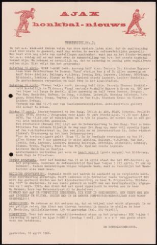 Honkbal nieuws (1963-1972) 1966-04-12