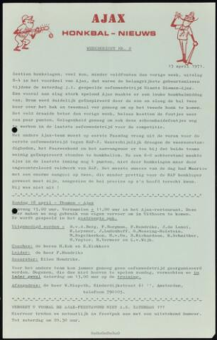 Honkbal nieuws (1963-1972) 1971-04-13