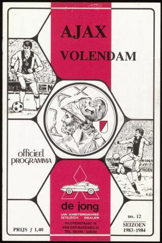 Programmaboekjes (vanaf 1934) 1984-02-05
