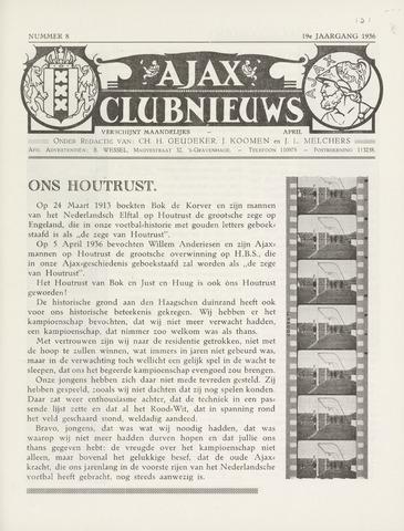 Clubnieuws Ajax (vanaf 1916) 1936-04-01