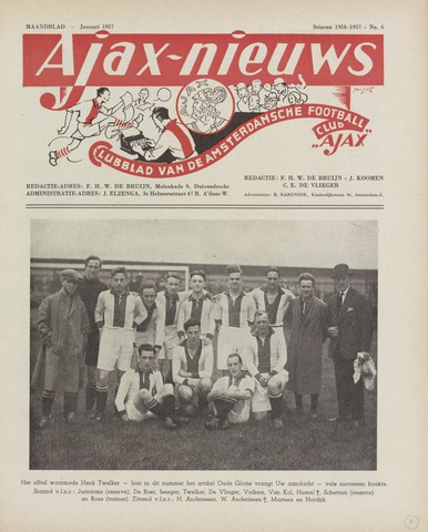Clubnieuws Ajax (vanaf 1916) 1957-01-01