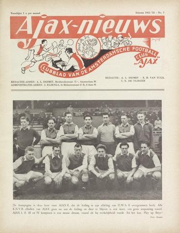 Clubnieuws Ajax (vanaf 1916) 1952-03-01