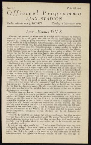 Programmaboekjes (vanaf 1934) 1945-11-04