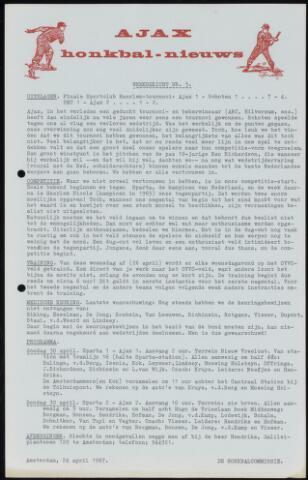 Honkbal nieuws (1963-1972) 1967-04-24