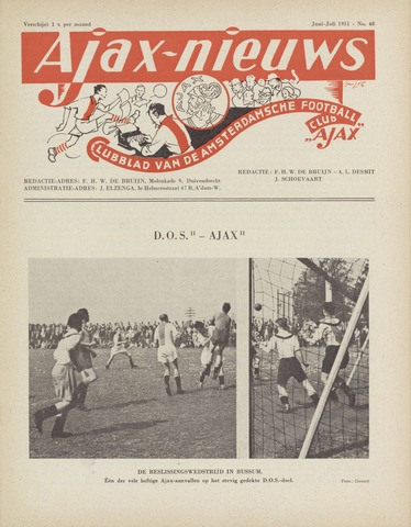 Clubnieuws Ajax (vanaf 1916) 1951-06-01