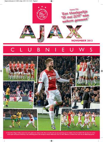 Clubnieuws Ajax (vanaf 1916) 2013-11-01
