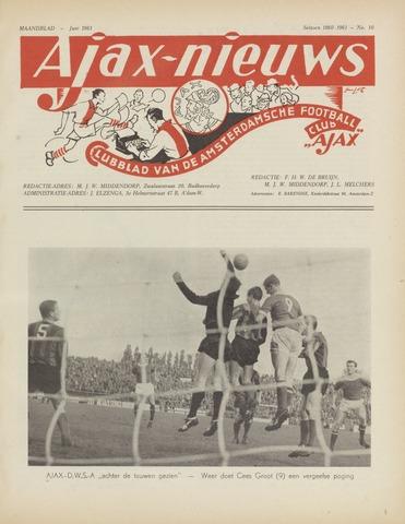 Clubnieuws Ajax (vanaf 1916) 1961-06-01